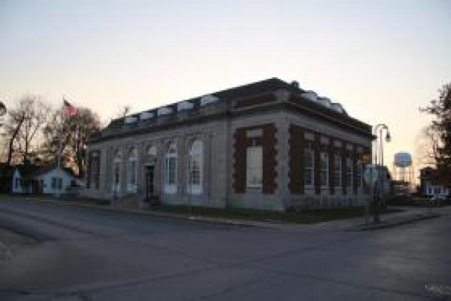 The post office in Caruthersville, Missouri, the goverment seat of Pemiscot County, the poorest in Missouri.