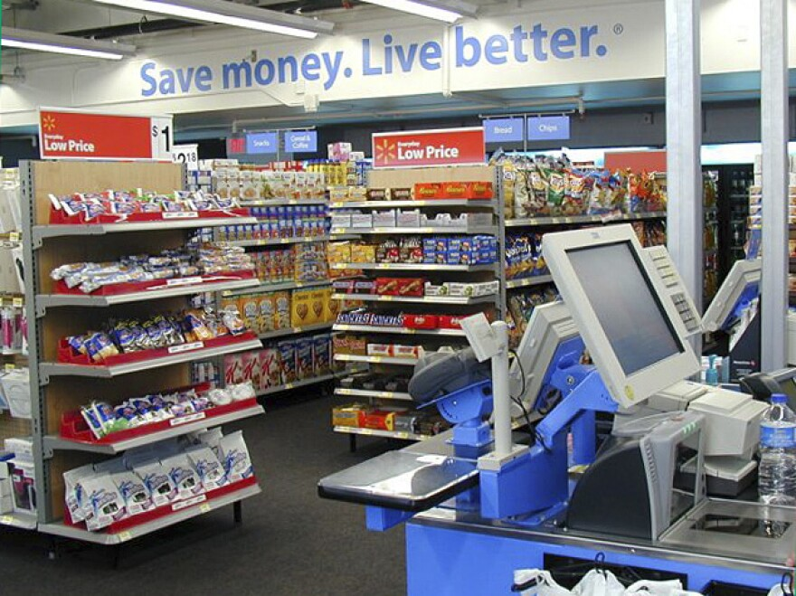 """The interior of one of Wal-Mart's new small stores in Arkansas. The company hopes its new strategy will help it compete with discount """"dollar"""" stores."""