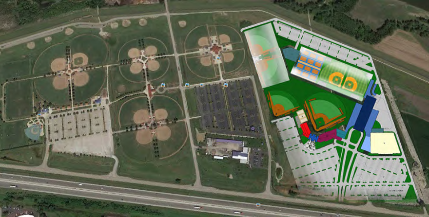 A rendering of what the POWERplex was to look like in Chesterfield.