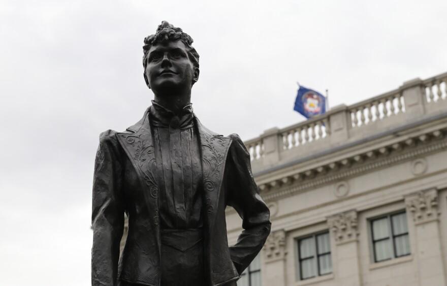 Photo of Martha Hughes Cannon statue at Utah Capitol.