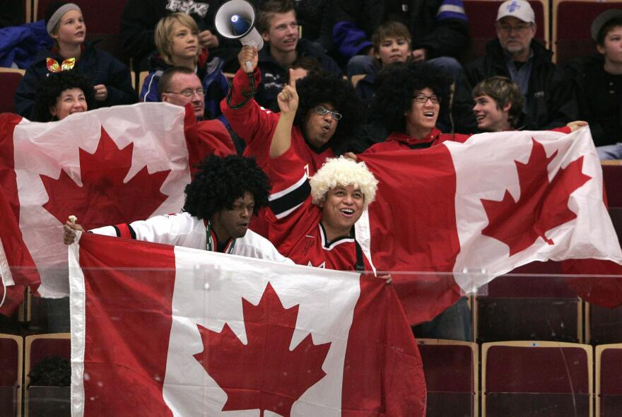 Canadian hockey fans cheer on their team. Sen. Ted Cruz was born in Canada, but has renounced his Canadian citizenship.