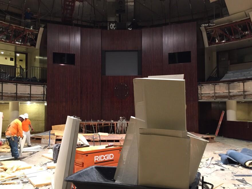 The Senate chambers mid-demolition