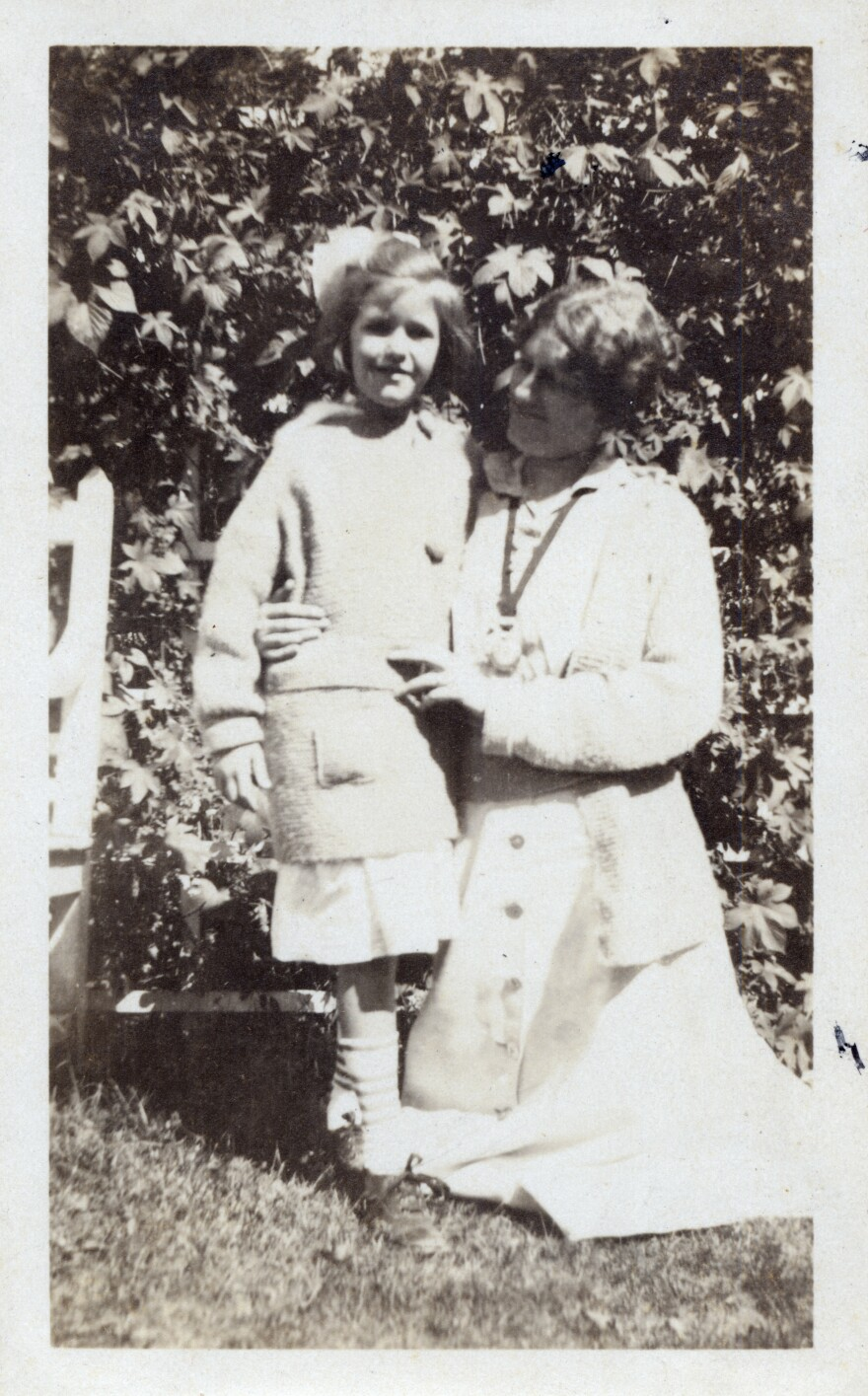 Nancy Hale with her mother, Lilian Westcott Hale, at their home in Dedham Massachusetts in October 1915.
