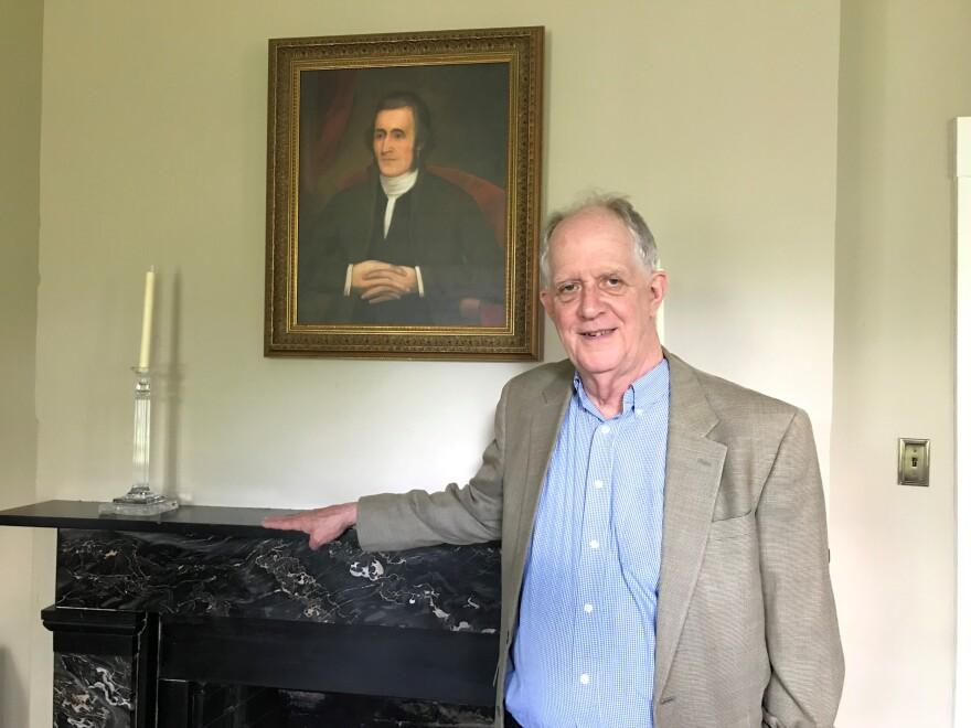 "Walter Washington, descendant of George Washington's brother, Samuel Washington. Walter is the President of the nonprofit, ""Friends of Happy Retreat."""