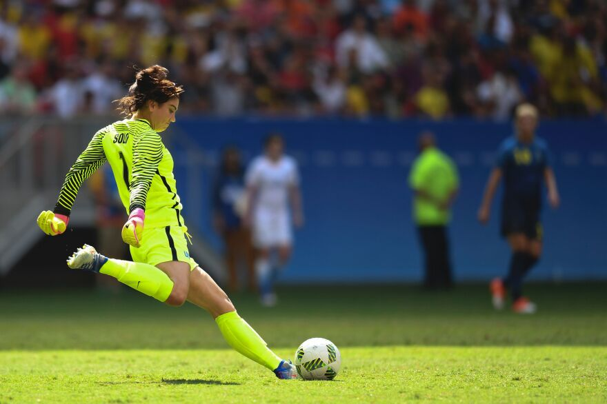 """U.S. goalkeeper Hope Solo called the Swedish team """"cowards"""" after they knocked the top-ranked Americans out of the tournament."""
