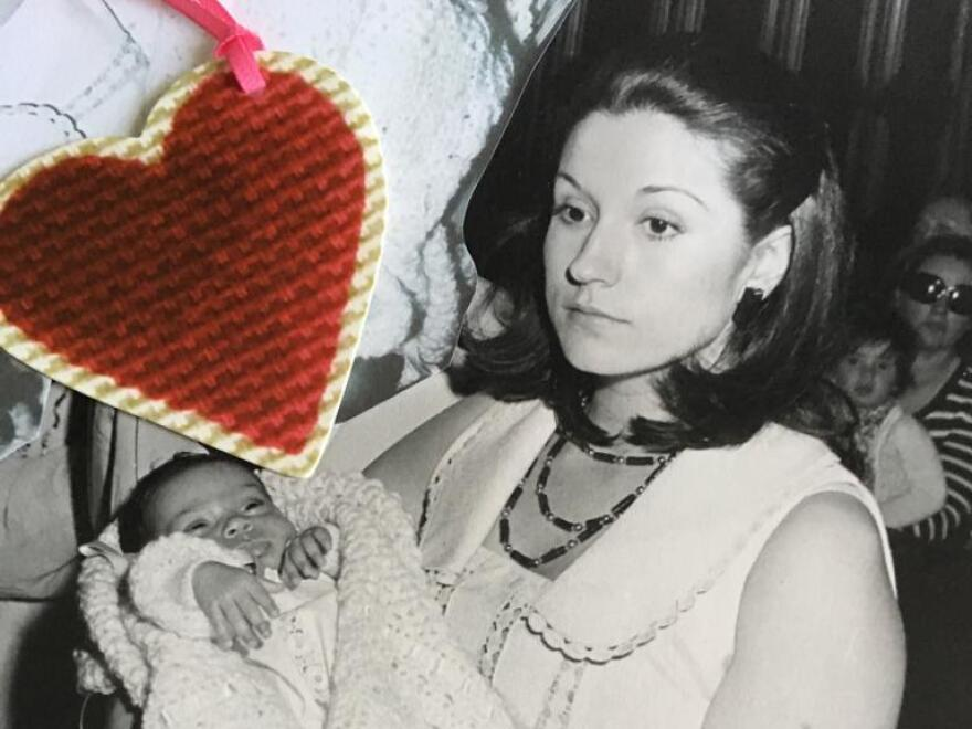 Pilar Navarro, now 68, has sought legal action against a Catholic hospital in Madrid where she claims a baby was secretly stolen from her in 1973. Here she is seen in a photo in 1974 holding a second baby daughter who was not taken from her.