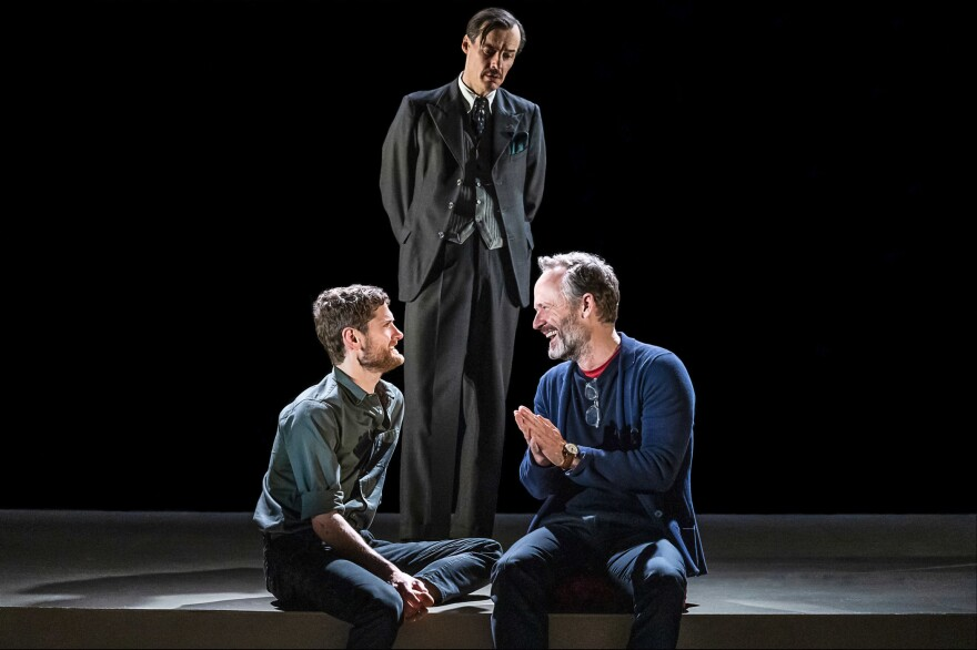 Kyle Soller, from left, Paul Hilton and John Benjamin Hickey in <em>The Inheritance.</em>