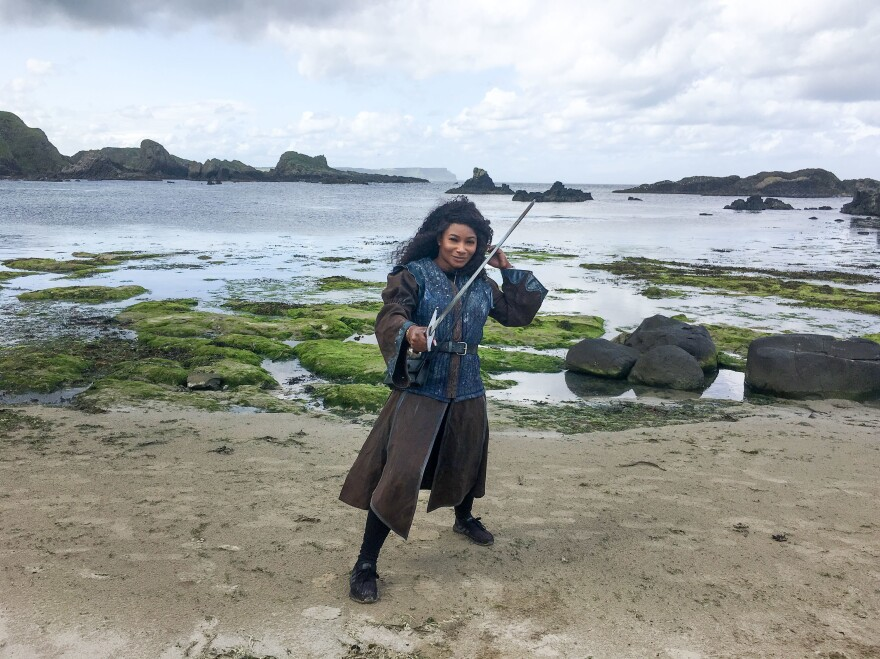 """Thelma Okocha is a """"set-jetter"""" from New York who traveled to Northern Ireland to see the locations where<em> Game of Thrones</em> was filmed."""