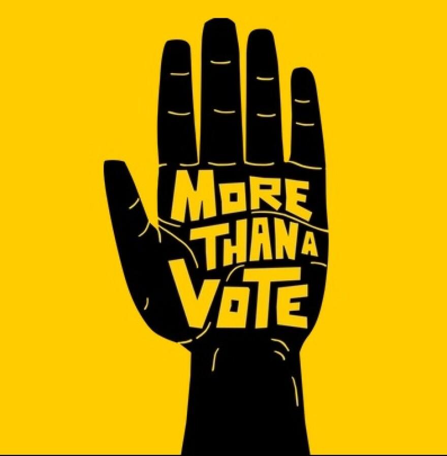 """""""More Than a Vote"""" logo"""