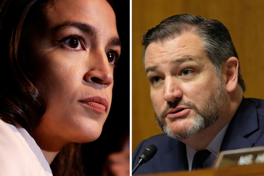 Rep. Alexandria Ocasio-Cortez and Sen. Ted Cruz vowed on Twitter to work together on legislation banning members of Congress who leave office from lobbying.