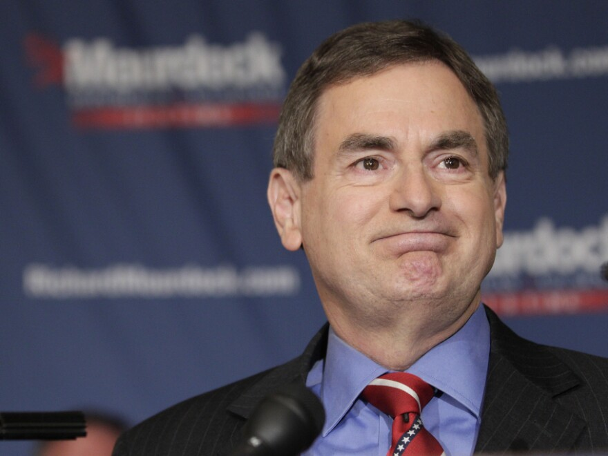 Indiana Treasurer Richard Mourdock makes a victory speech Tuesday in Indianapolis, after defeating Sen. Richard Lugar in the Republican primary.