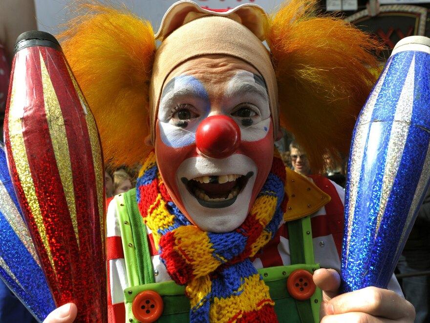 A Ringling Bros. and Barnum & Bailey clown.