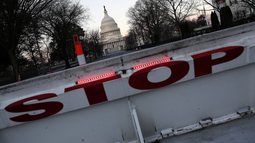 The U.S. Capitol in Washington, D.C., is shown Monday during a partial shutdown of the federal government.