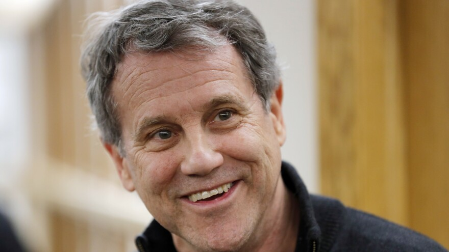 "In his announcement, Sen. Sherrod Brown said he ""will keep calling out Donald Trump and his phony populism."""