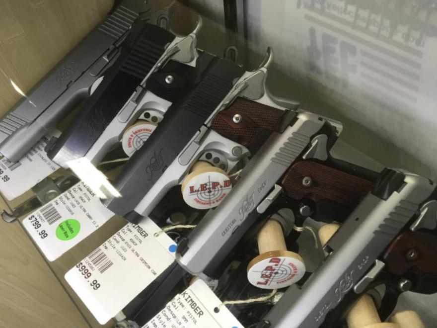 a photo of guns