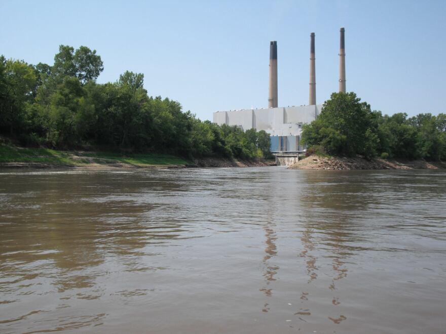 Ameren Missouri's Labadie Energy Center next to the Missouri River