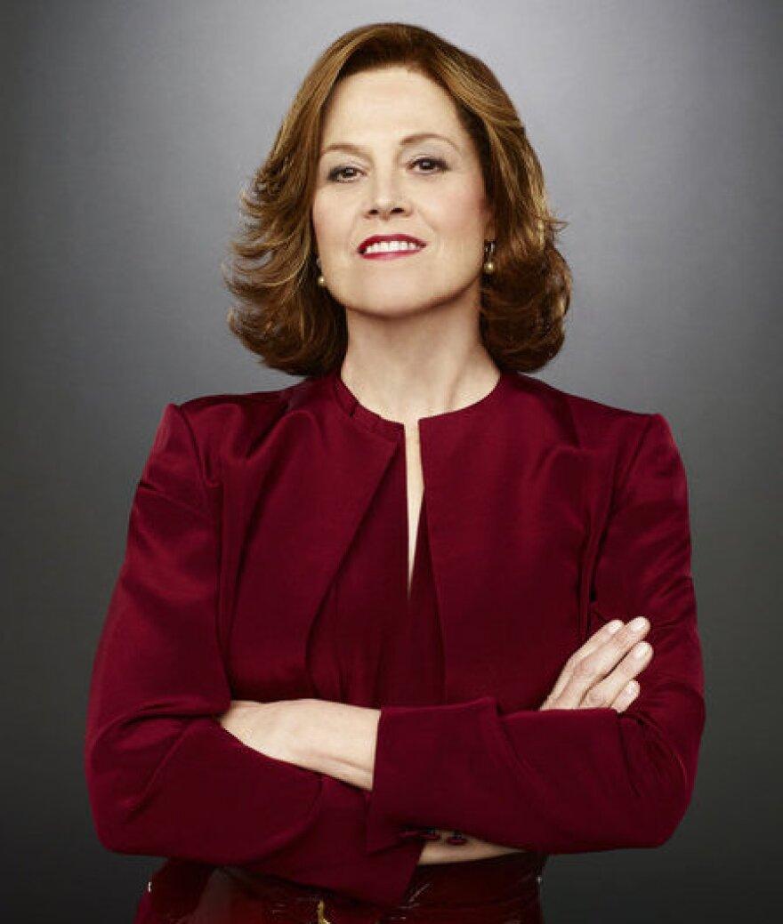 Sigourney Weaver stars as Secretary of State Elaine Barrish in the USA Network miniseries <em>Political Animals</em>.