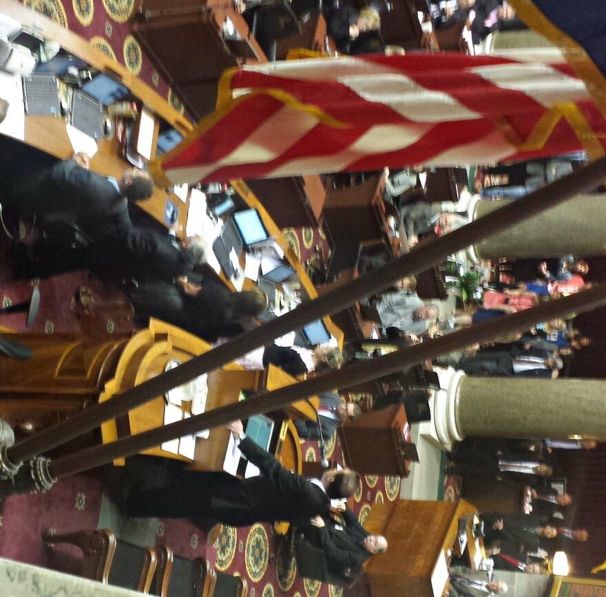 John Diehl opens the legislative session on May 15.