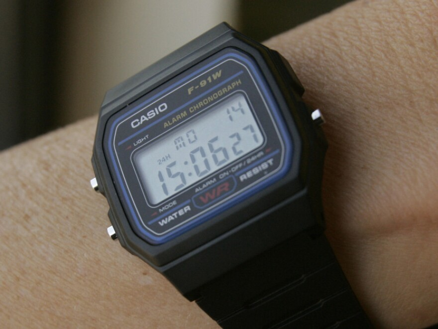 A Casio F-91W 1 casual sport watch. The U.S. government says this type of watch has been used in terrorist bombings.