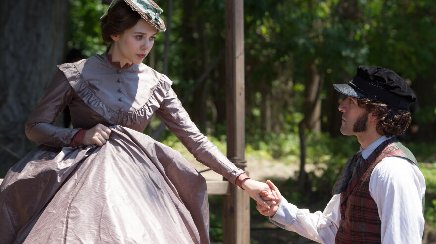 Therese (Elizabeth Olsen) and Laurent (Oscar Issac) have a scandalous affair — and some real chemistry. But the unevenness of <em>In Secret, </em>adapted from Emile Zola's novel Therese Raquin, moves their plotline away from center.