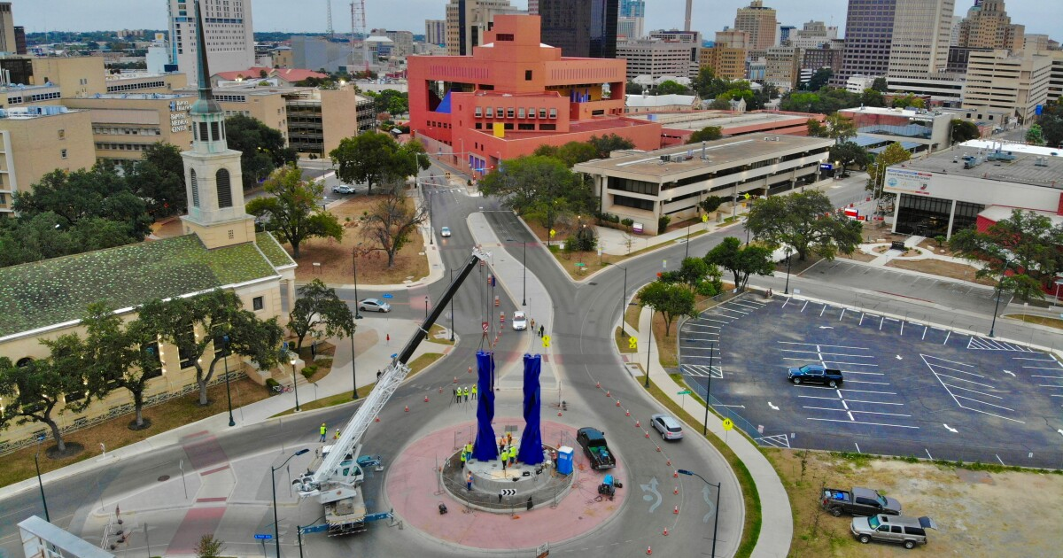 New 'Door Of Equality' Sculpture In Downtown San Antonio Is A Return Performance By Sebastián