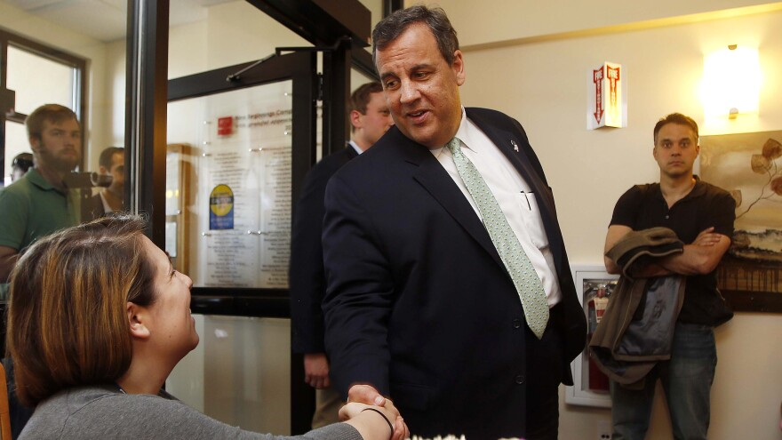 New Jersey Gov. Chris Christie participated in a roundtable discussion at the Farnum Center in Manchester, N.H. earlier this month.