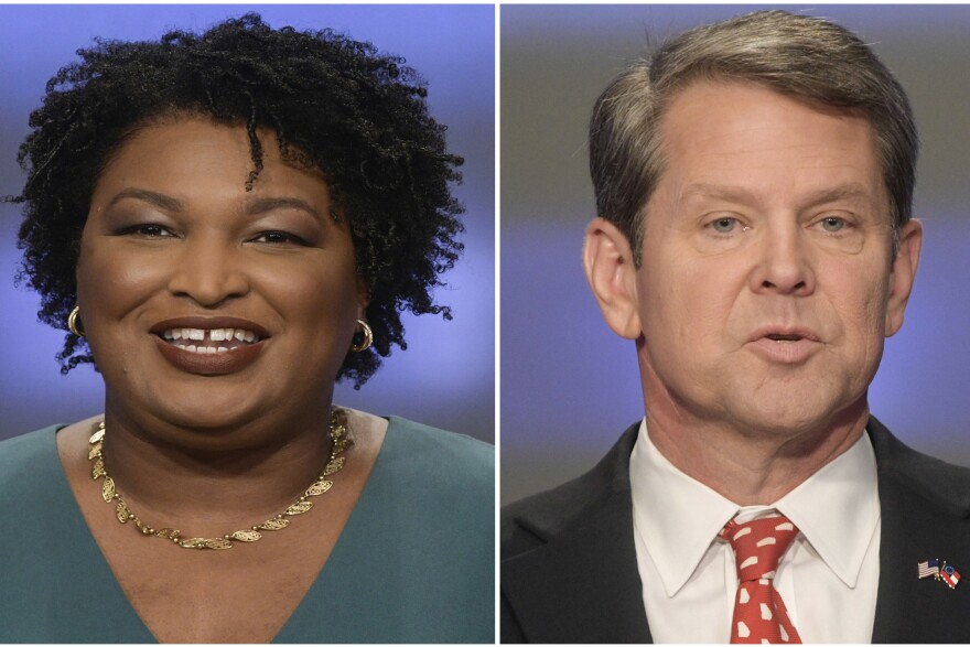 Georgia gubernatorial candidates Stacey Abrams and Brian Kemp in Atlanta. The final stretch of the hotly contested Georgia governor's race is being consumed by a bitter political battle over access to the polls.