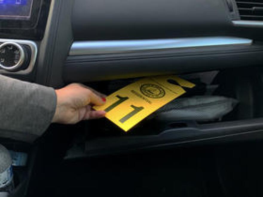 Officials urge people to store the re-entry tags in their glove box, so they will be on hand if -- or when -- a hurricane hits.