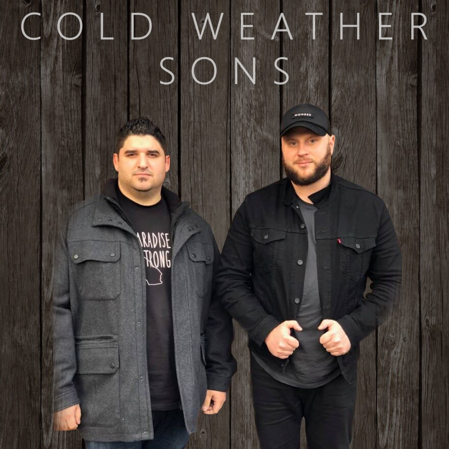 """Nathaniel Smith and Miykael Goodwin have a band name now, Cold Weather Sons, and a professionally produced single, """"One of These Days."""" The song is a lament for the town lost to the Camp Fire in 2018."""