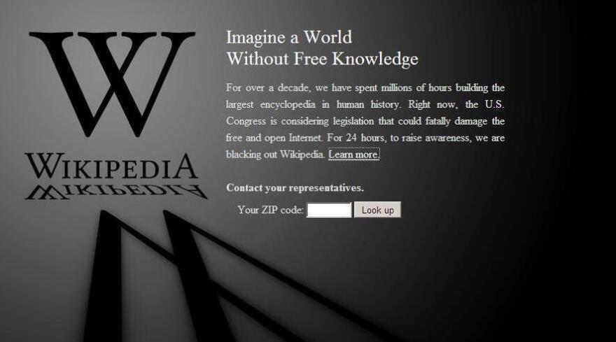 Wikipedia's blackout.