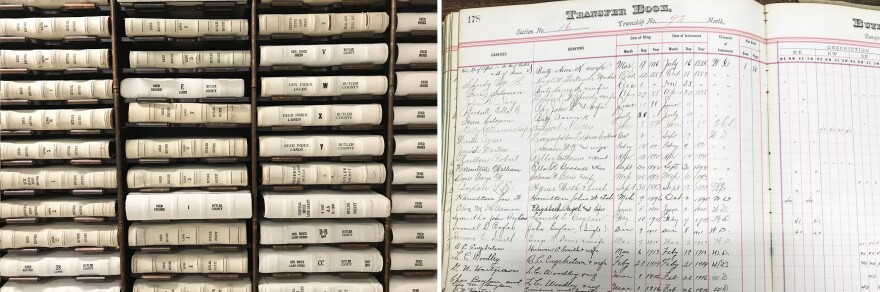 Records at the Butler County recorder's office show who owned each parcel of land since the 1850s.