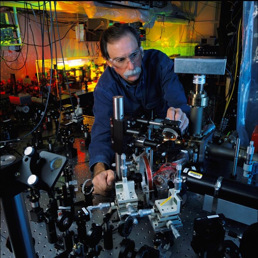 David Wineland. Illustration from the Nobel Prize website.