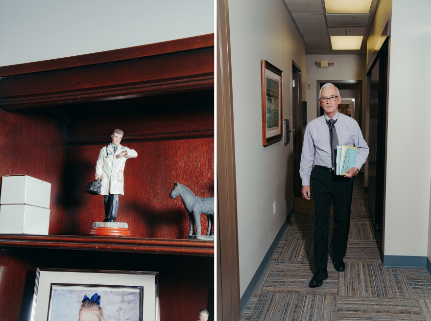 For years, Dunlap took insurance and ran a traditional practice. Now he has about 800 patients who pay him monthly fees directly.