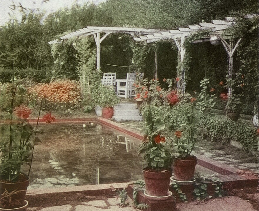 Dior's garden at the Villa Les Rhumbs in Granville in Normandy, France.