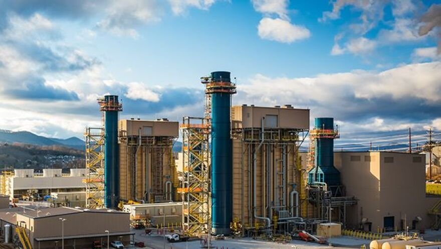 Duke Energy finished this natural gas-fired power plant in Asheville in April 2020, replacing an old coal-fired plant.
