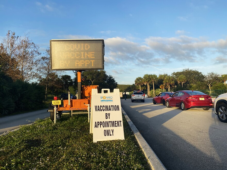 COVID-19 vaccinations started on Jan. 3, 2021, at the Vista View Park in Davie for people 65 and older.
