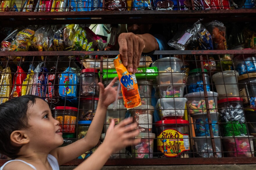 There are millions of <em>sari-sari</em> stores throughout the Philippines. Sachets, which are not recyclable, are a big part of their stock in trade.