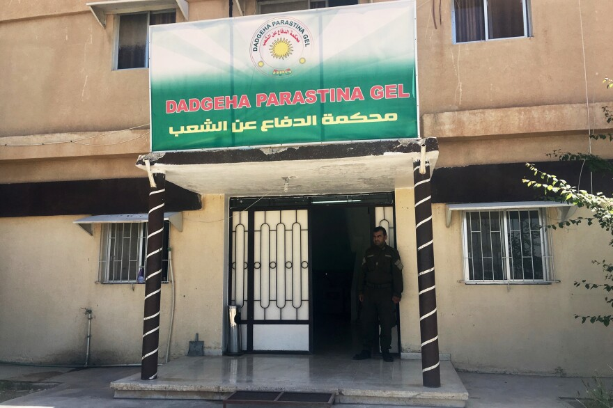 The People's Defense Court in the Rojava district of northeast Syria. Judges here have been holding trials of thousands of ISIS fighters. The Kurdish-led region broke from Syrian government control in 2012 and has developed its own justice system that it says adheres to Western standards of human rights.
