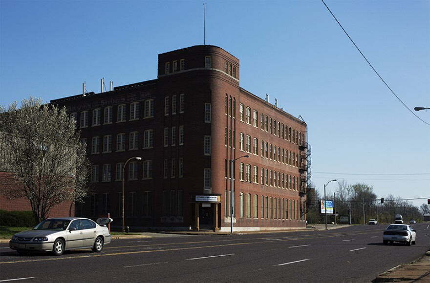 The former Buster Brown Blue Ribbon building is slated to be demolished as part of the NGA development project.  It is north of Cass and Jefferson Streets