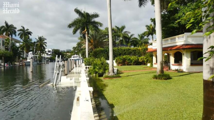 Miami sea wall