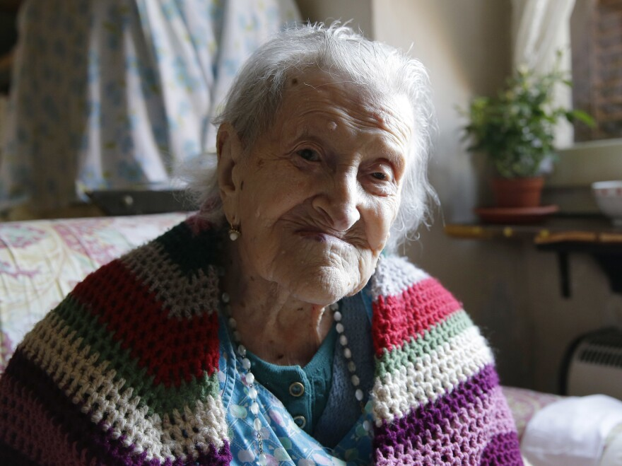 Emma Morano, 116, sits in her apartment in Verbania, Italy.