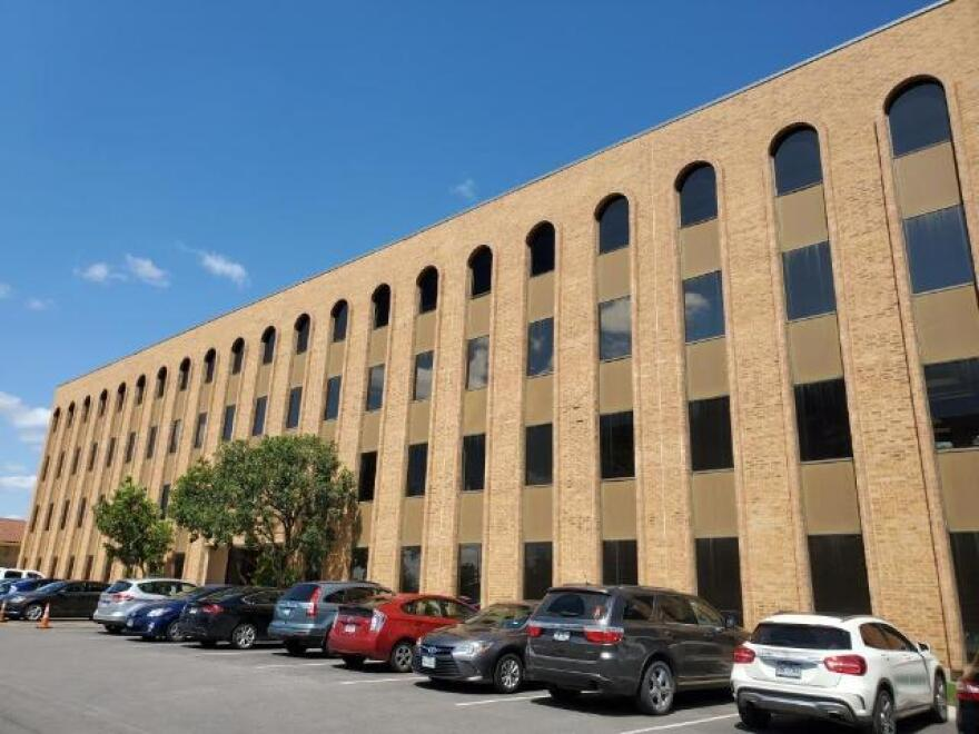 The Washington Square building in San Antonio, where immigration court is held.