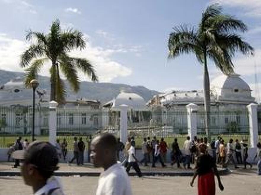 The Haitian National Palace was heavily damaged in the January 2010 earthquake.