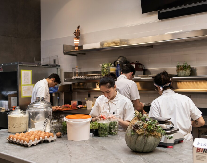 The pastry kitchen at Atelier Crenn.