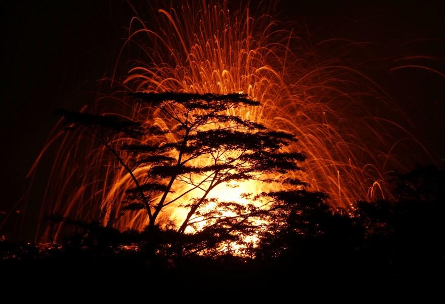 Kilauea volcano first erupted May 3 in Kapoho, on Hawaii's Big Island.