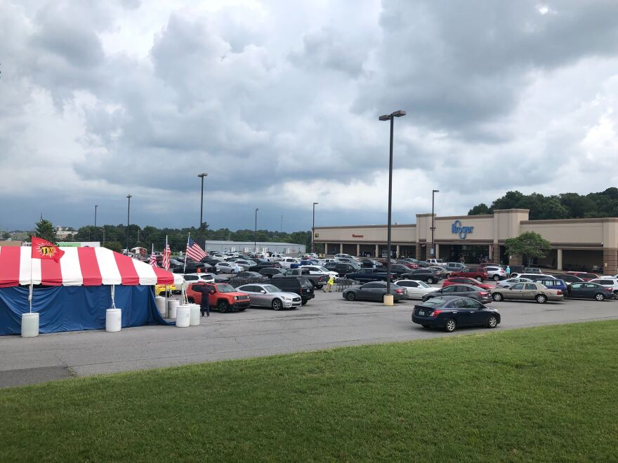 The Kroger grocery store in Murray, Kentucky.