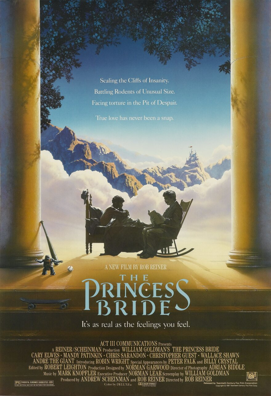 """<em>The Princess Bride</em>, directed by Rob Reiner in 1987, was released 30 years ago. NPR's Linda Holmes says this anniversary is """"a fine opportunity to track it down and watch it, trying not to anticipate its famous lines  — or trying to leave them out of your understanding of it altogether — and just appreciating it for the simple, good-natured, off-kilter comedy it was when it was released."""""""