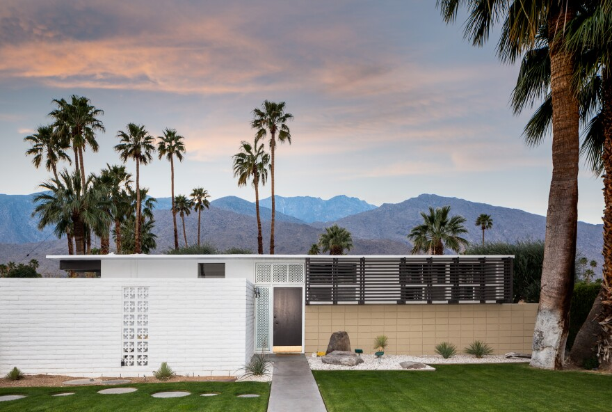 Designed by architect William Krisel, this tract house was built in the Twin Palms neighborhood of Palm Springs, Calif., in 1956.
