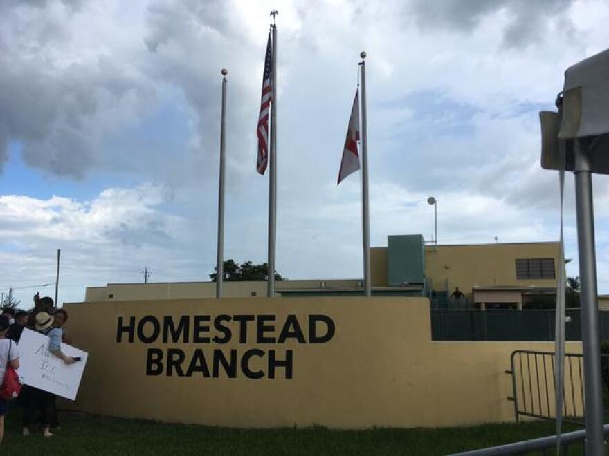 The detention facility on 288th Street in Homestead, Florida, on Saturday.