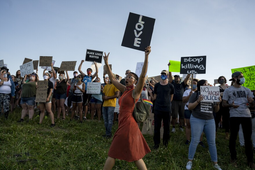 Protesters in St. Charles rallied on June 6 for justice in the death of Breonna Taylor